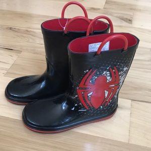 Spider-Man rain boots - nwot